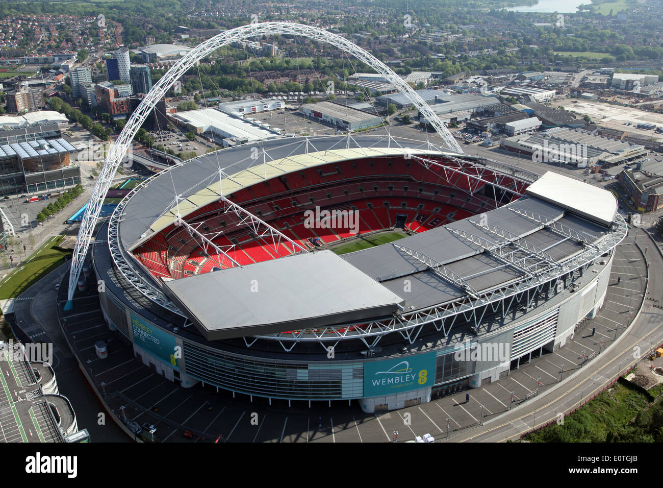 aerial view of wembley stadium london uk stock photo. Black Bedroom Furniture Sets. Home Design Ideas