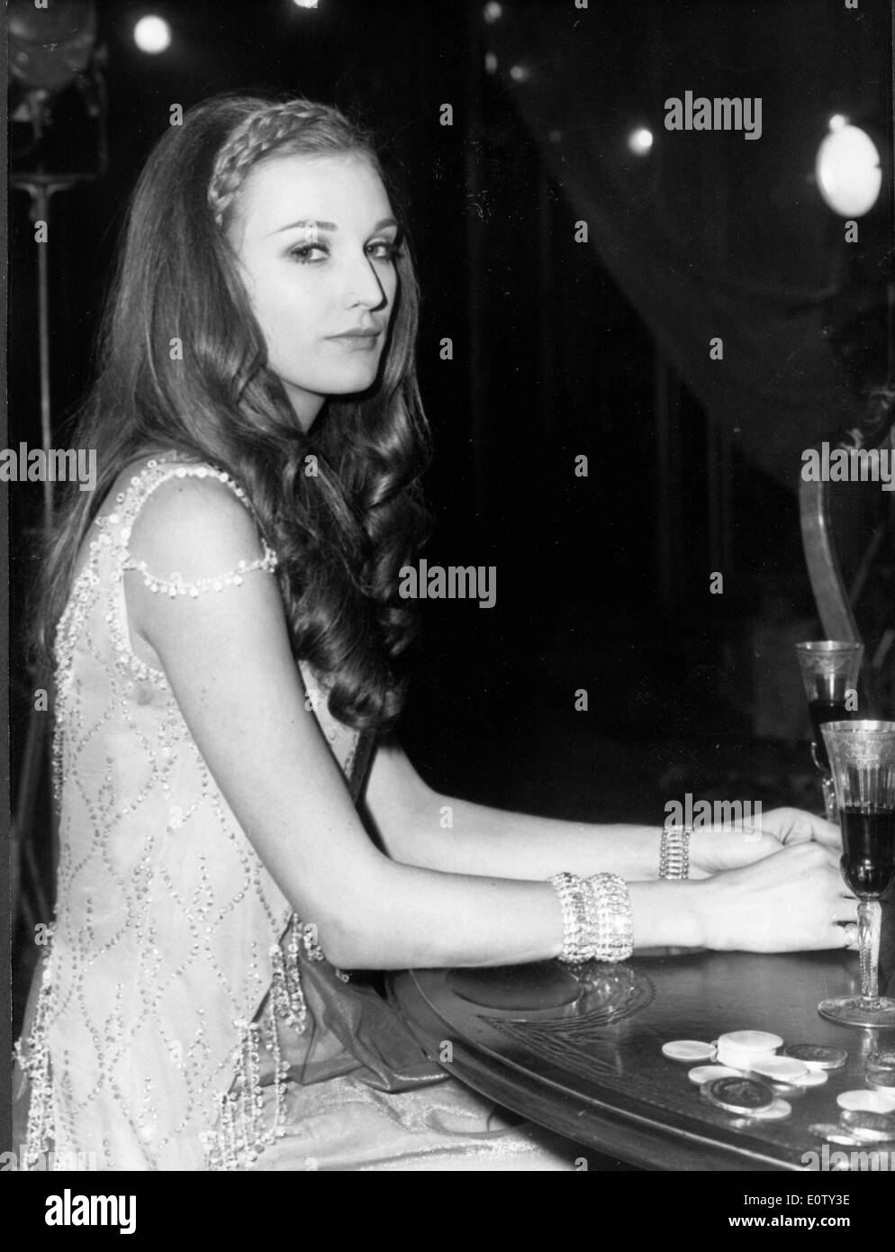 nicolette stock photos nicolette stock images alamy actress marika green sitting at a party stock image