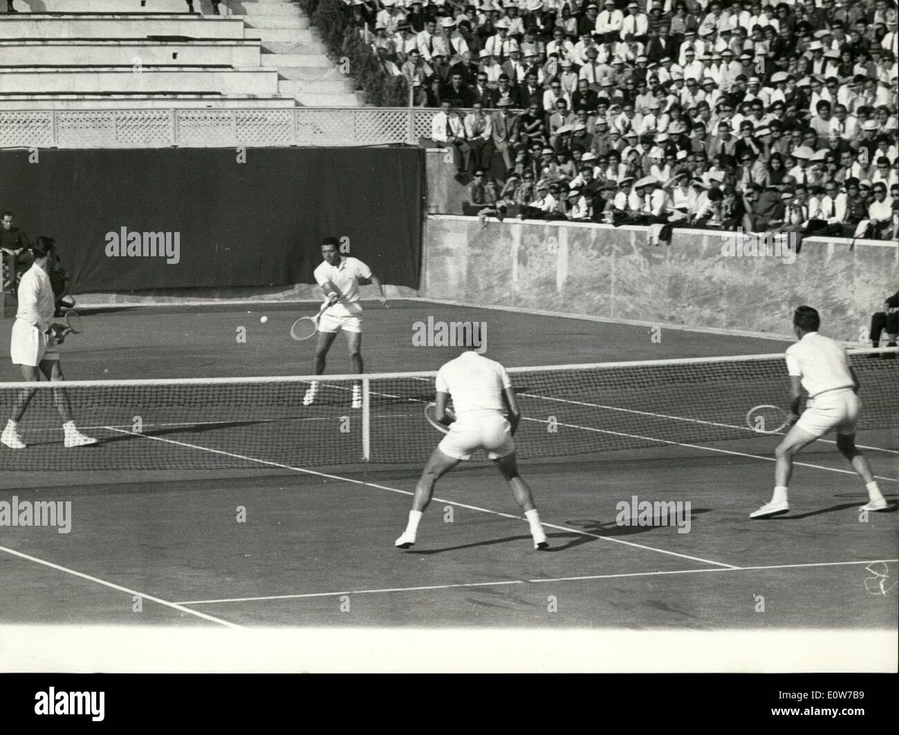 Oct 15 1961 Rome Davis Cup Interzone Finals Italy = U S A