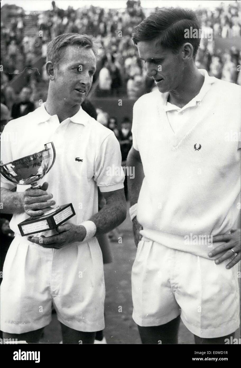 Jun 03 1962 Rod Laver Wins the French Open Against Roy Emerson
