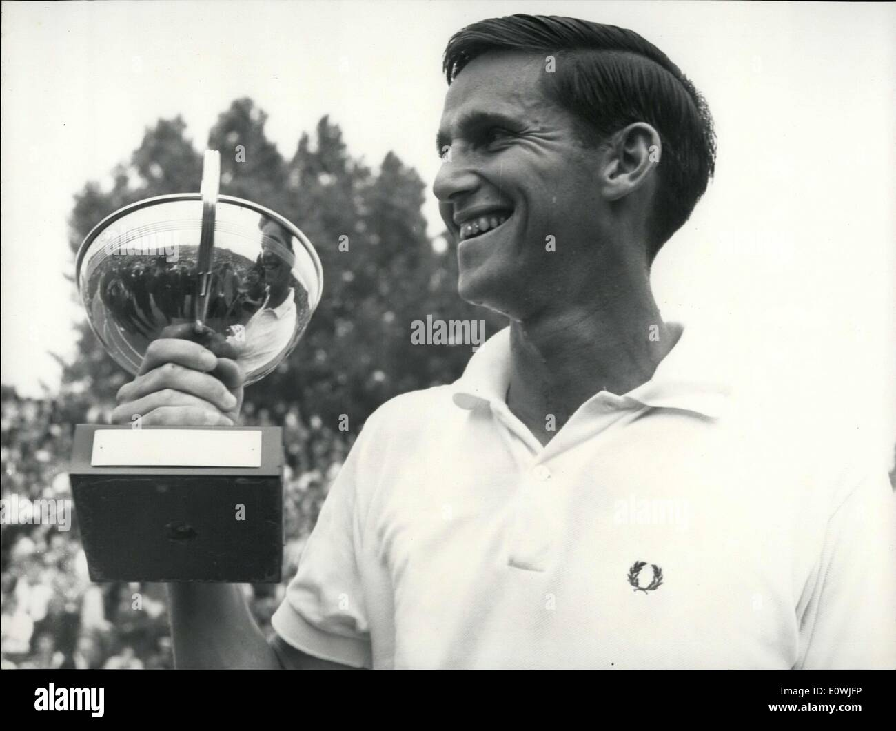 May 26 1963 Australia s Roy Emerson Wins the French Open Stock