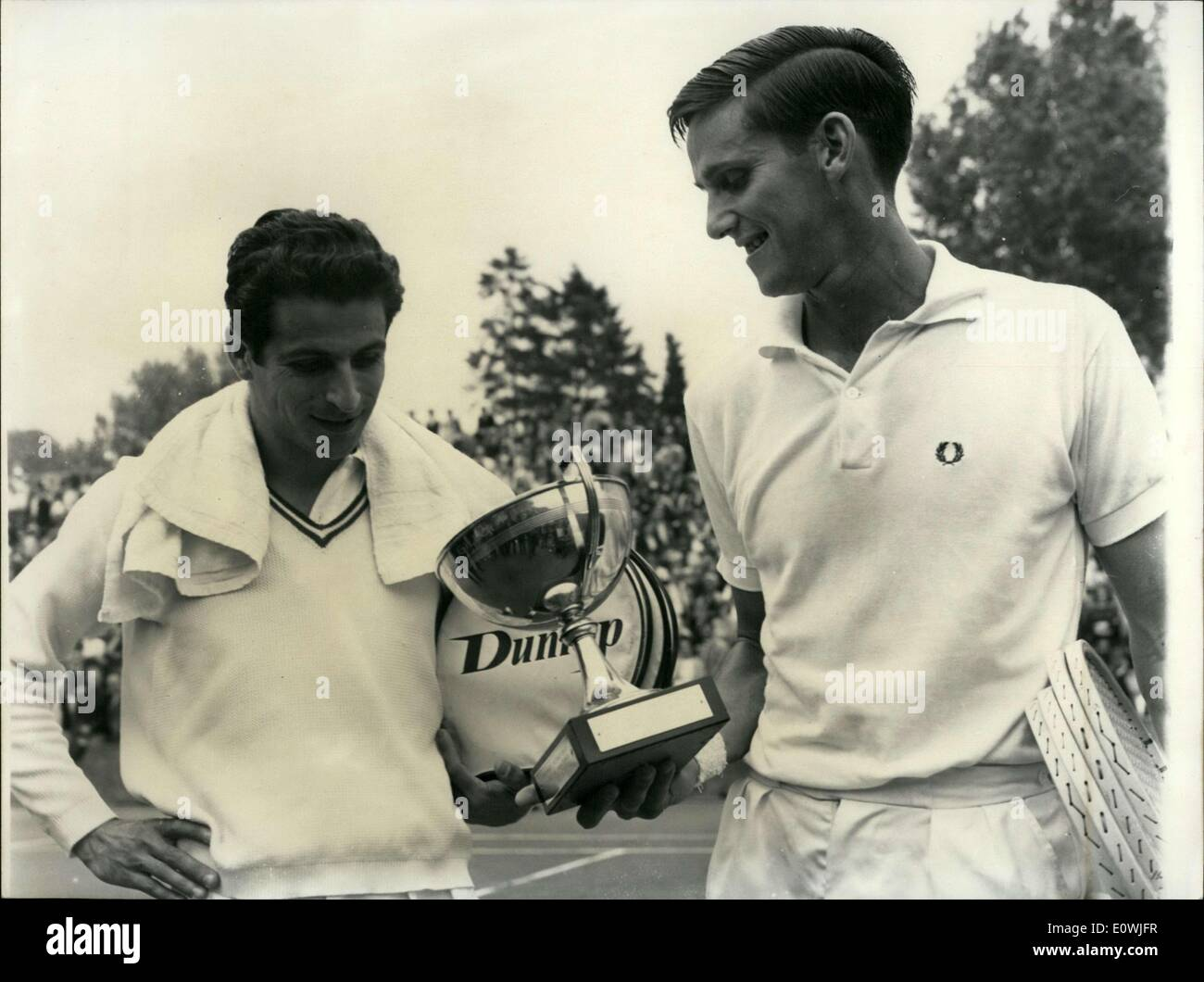 May 26 1963 Pierre Darmon with the French Open Winner Roy