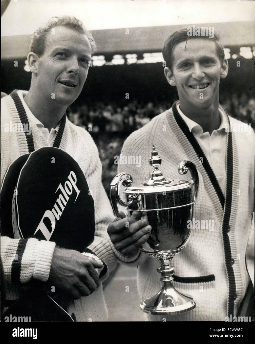 Jul 07 1964 Roy Emerson wins the men s singles championship at