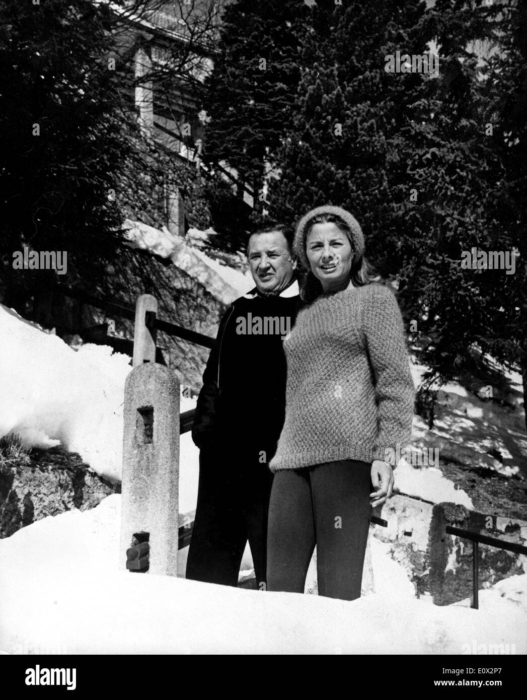 St moritz honeymoon of president of the ford motor company henry ford ii and his