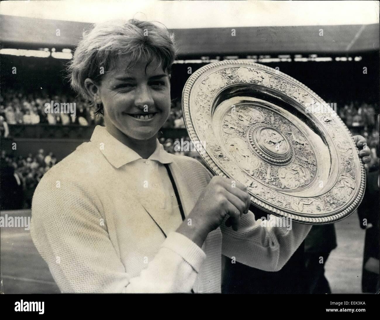 Mar 03 1965 MARGARET SMITH WINS WIMBLEDON CHAMPIONSHIP BEATING