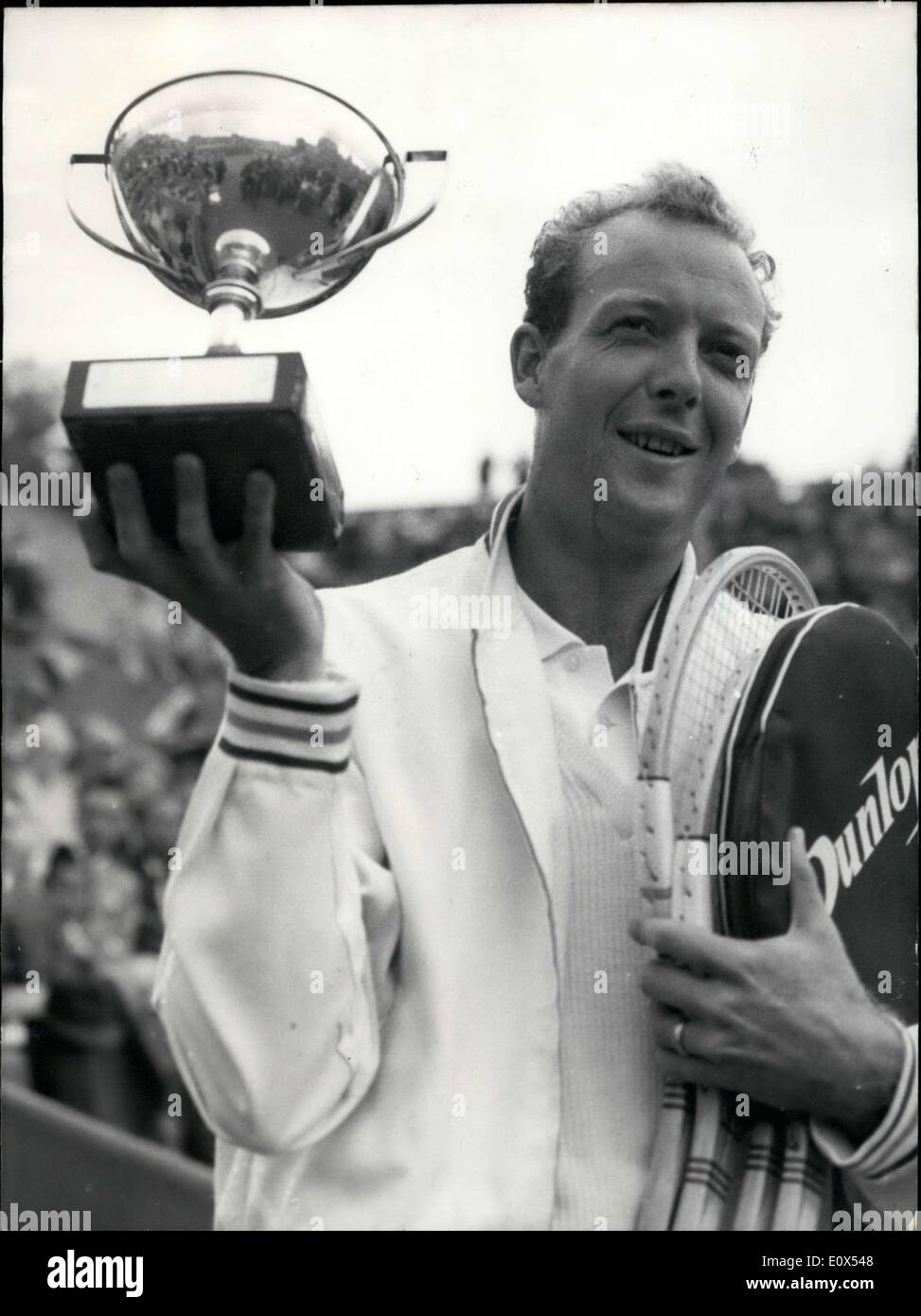 May 29 1965 Fred Stolle Wins French Open Stock Royalty