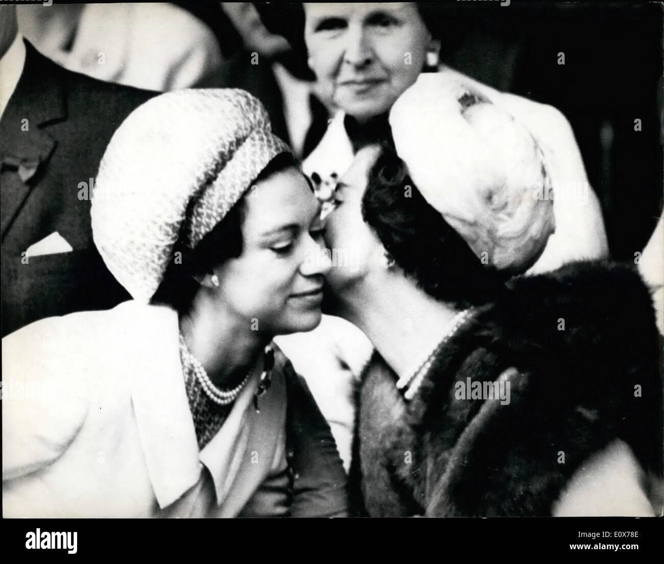 Jul 07 1965 Princess Margaret Watches The Men s Singles Final
