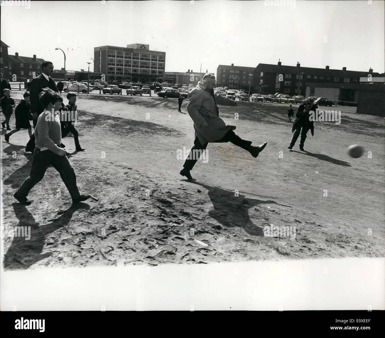 Harold young stock photos harold young stock images alamy jul 07 1966 mr harold wilson plays football with some young children ccuart Choice Image