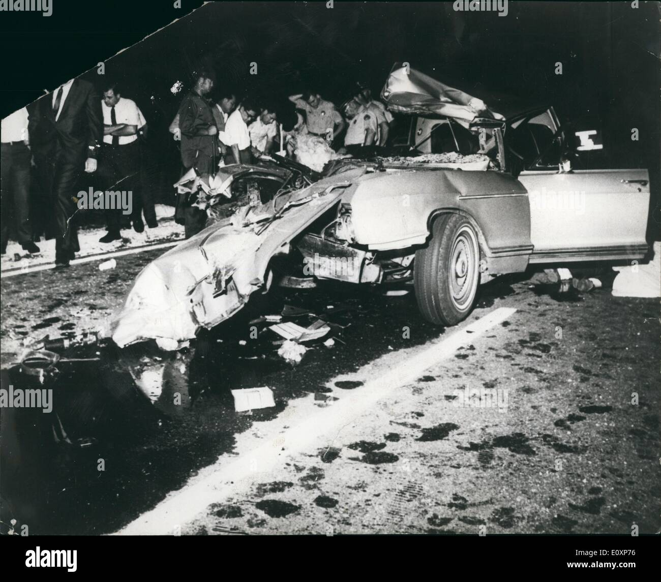 Jul. 07, 1967 - Jayne Mansfield Killed In Car Crash. Photo shows ...