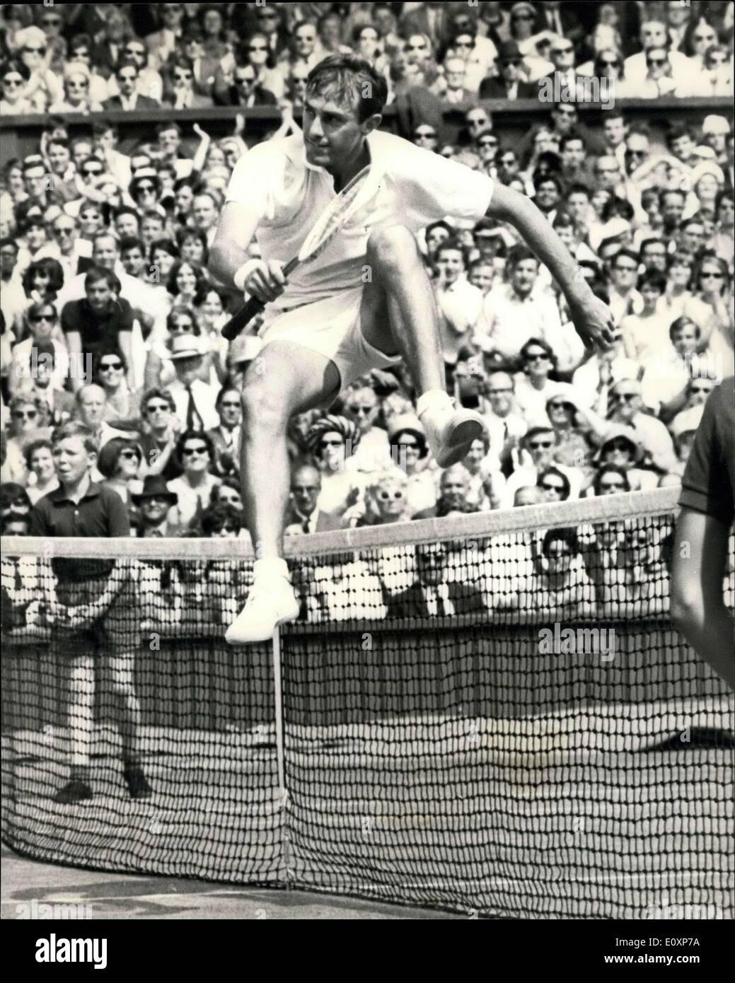 Jul 07 1967 Tennis at Wimbledon New be Wins Men s Singles
