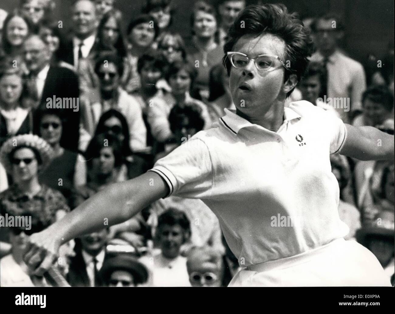 Jul 07 1967 Tennis at Wimbledon Virginia Wade beaten