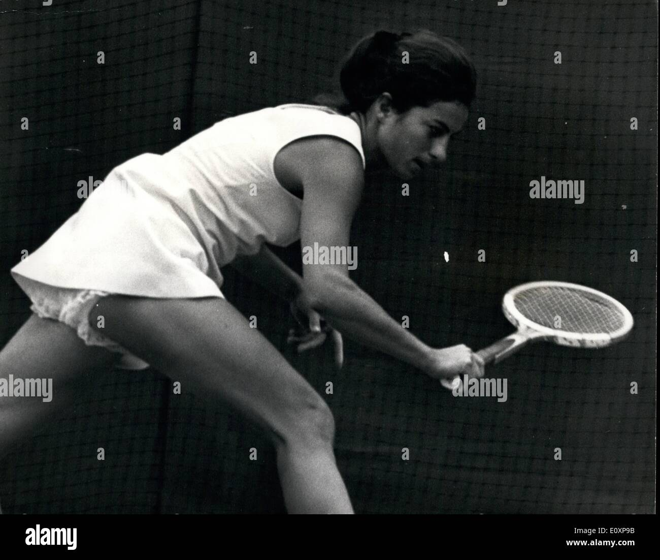 Jul 07 1967 TENNIS AT WIMBLEDON VIRGINIA WADE IS BEATEN Stock