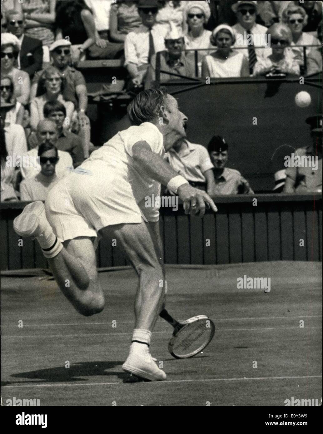 Jul 07 1968 Wimbledon Open Tennis Championships Rod Laver