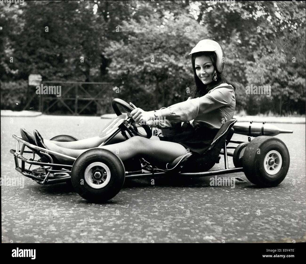Aug. 08, 1968 - Miss Go Kart 1968 - 22 Year old Marnie Cahill, a ...