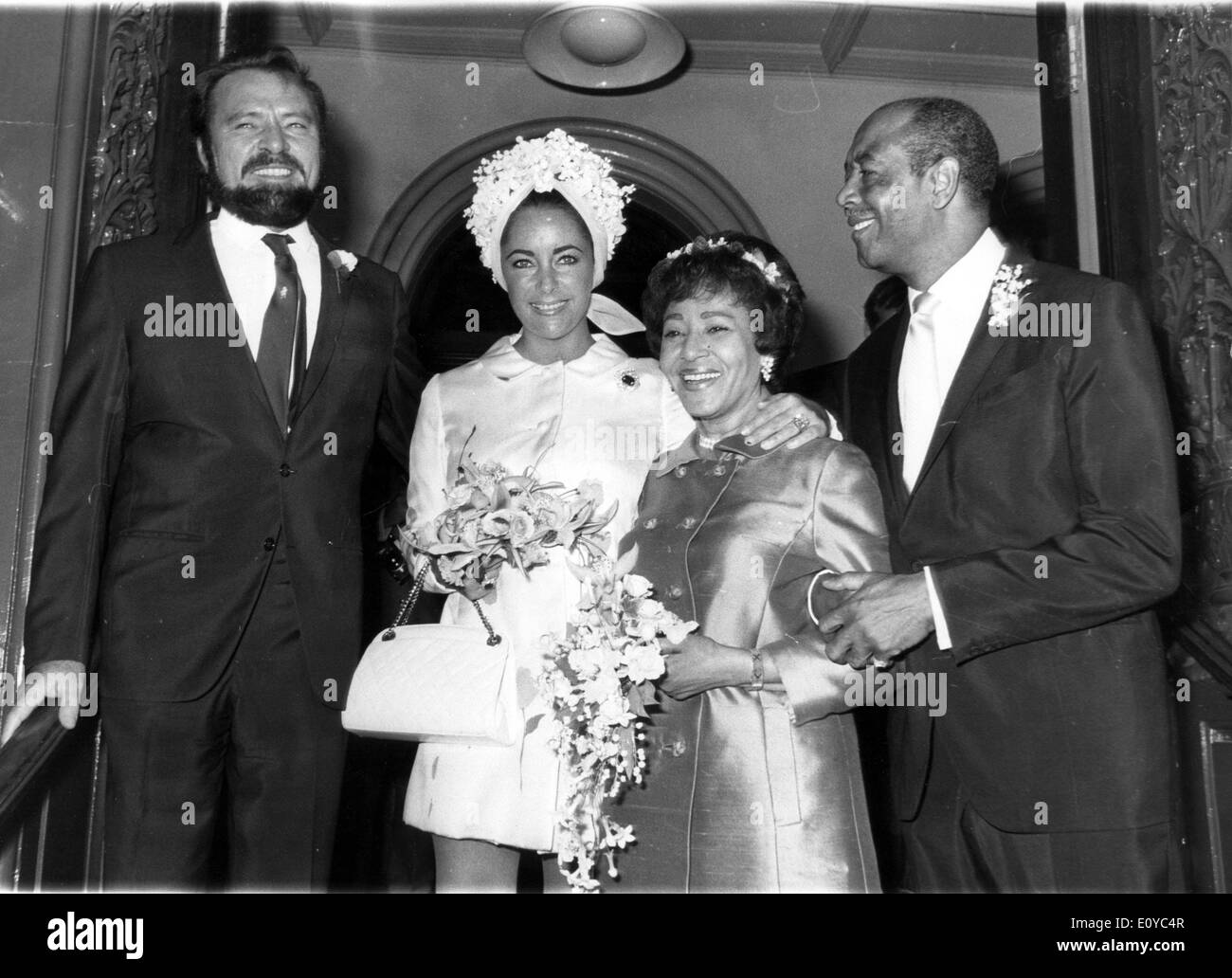 Actress Elizabeth Taylor And Richard Burton Attend Wedding