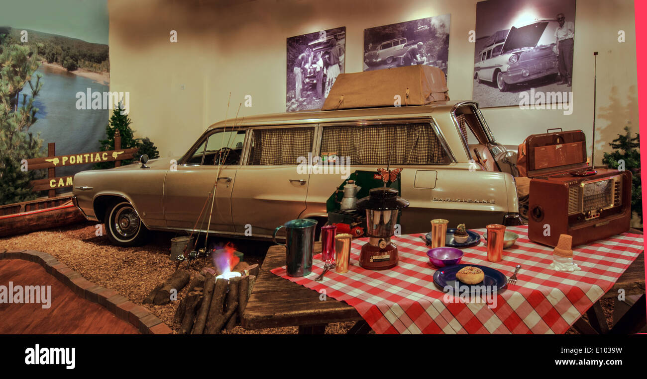 Exhibit in the Pontiac-Oakland Museum in Pontiac, Illinois, a town ...