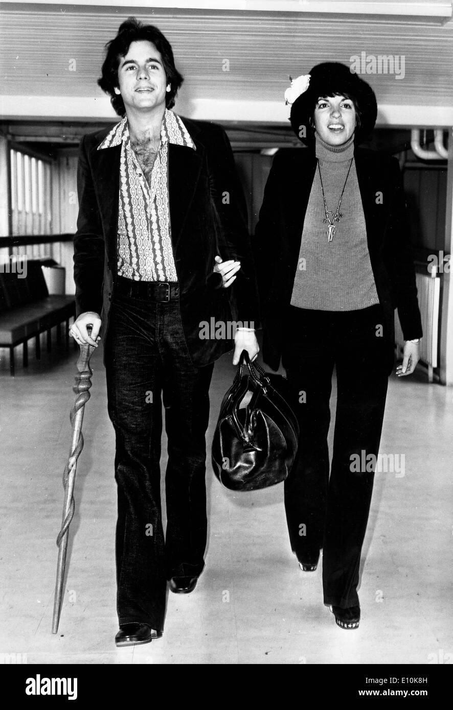 Singer Liza Minnelli Travels With Desi Arnaz Jr Stock Photo, Royalty ...