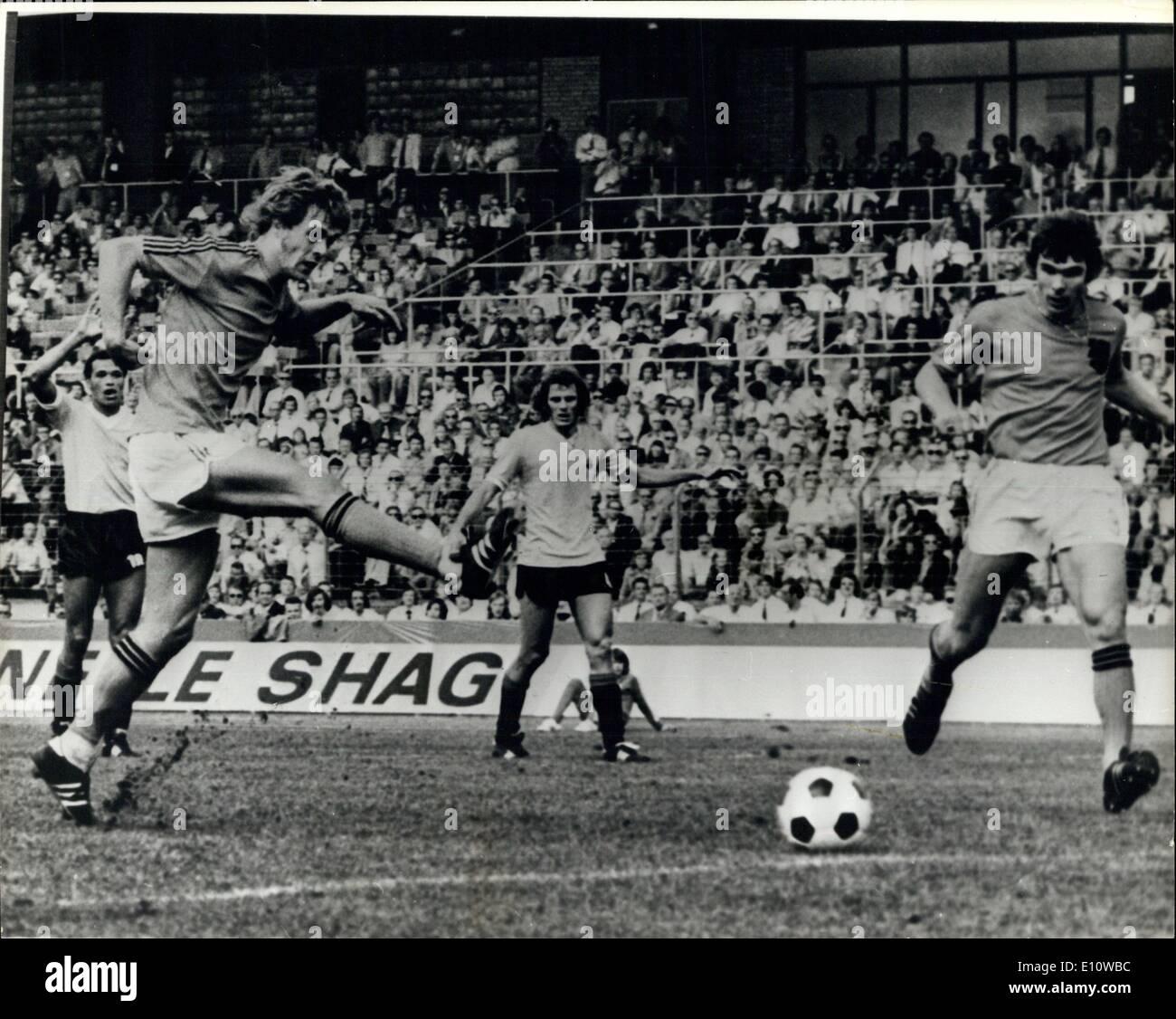 Jun 19 1974 World Cup in Germany Holland beat Uruguay 2 0
