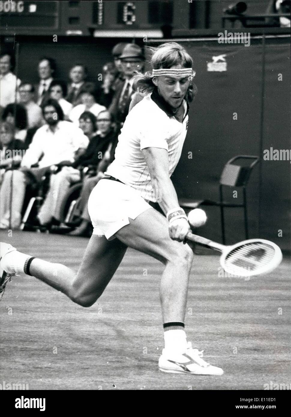 Jun 06 1977 Bjorn Borg Beats Ilie Nastase In The Quarter