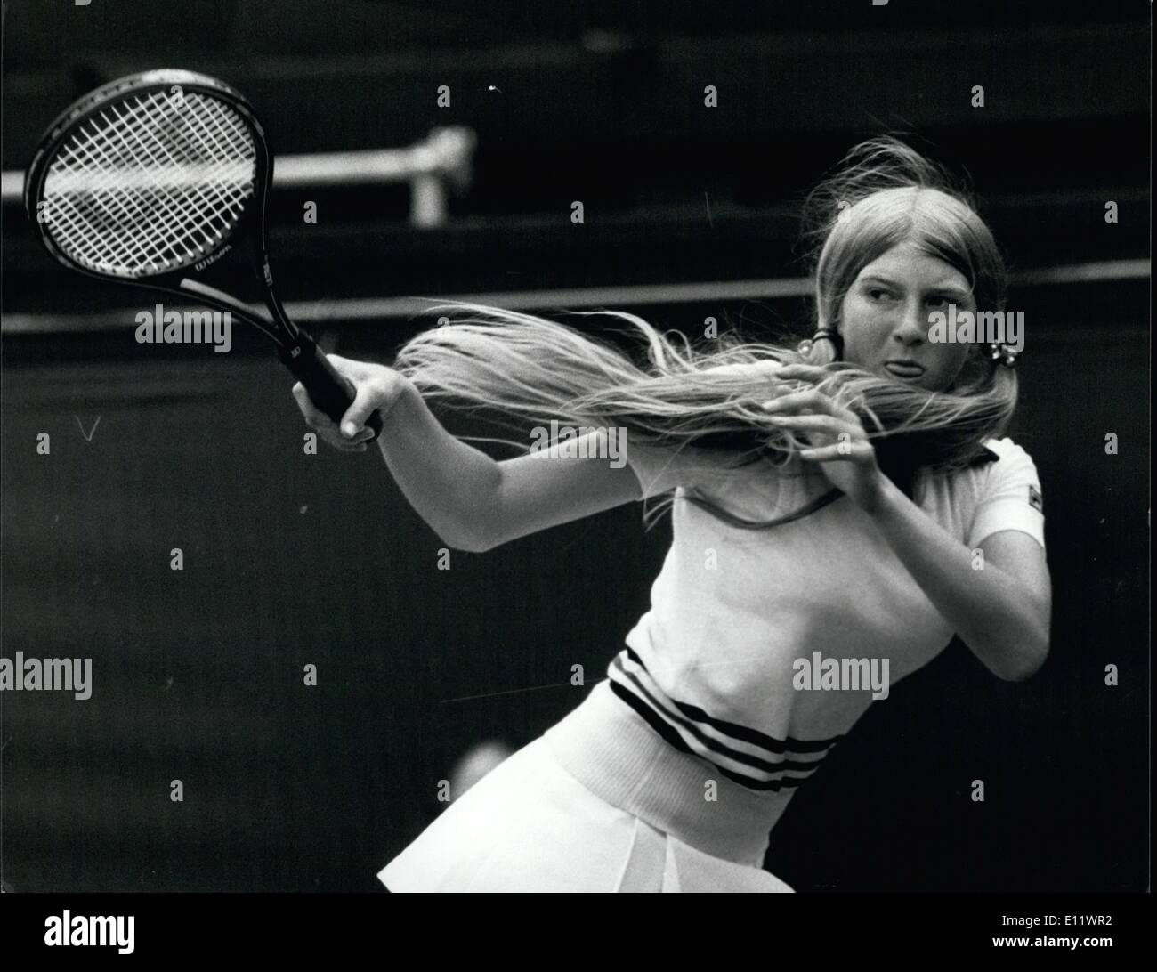Jun 06 1980 Virginia Wade Is Beaten By Andrea Jaeger