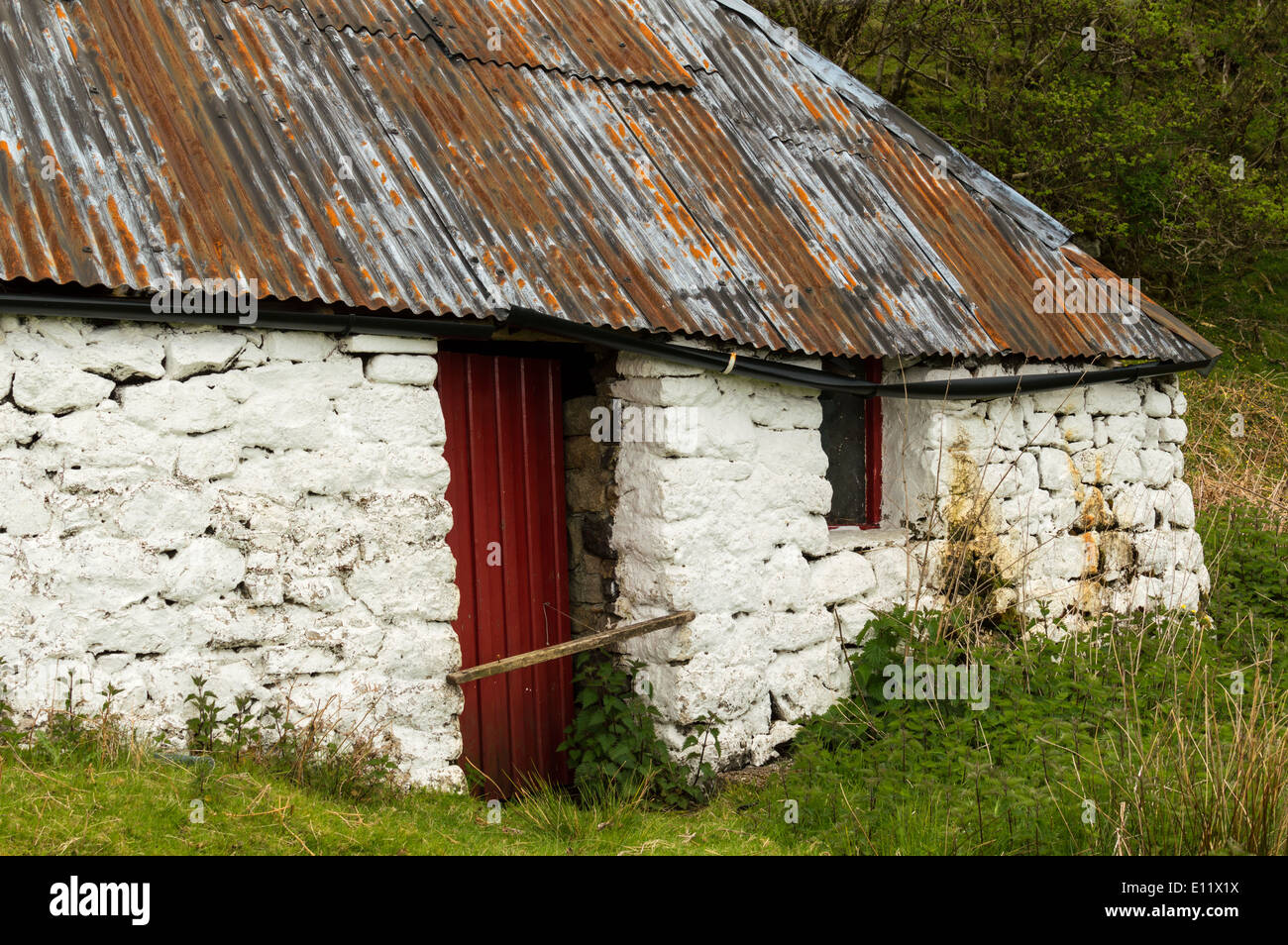 Old Stone Croft House With Rusted Tin Or Corrugated Iron
