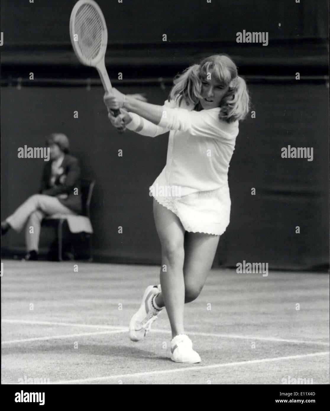 Jun 24 1980 Wimbledon Tennis Tracy Austin V A Moulton