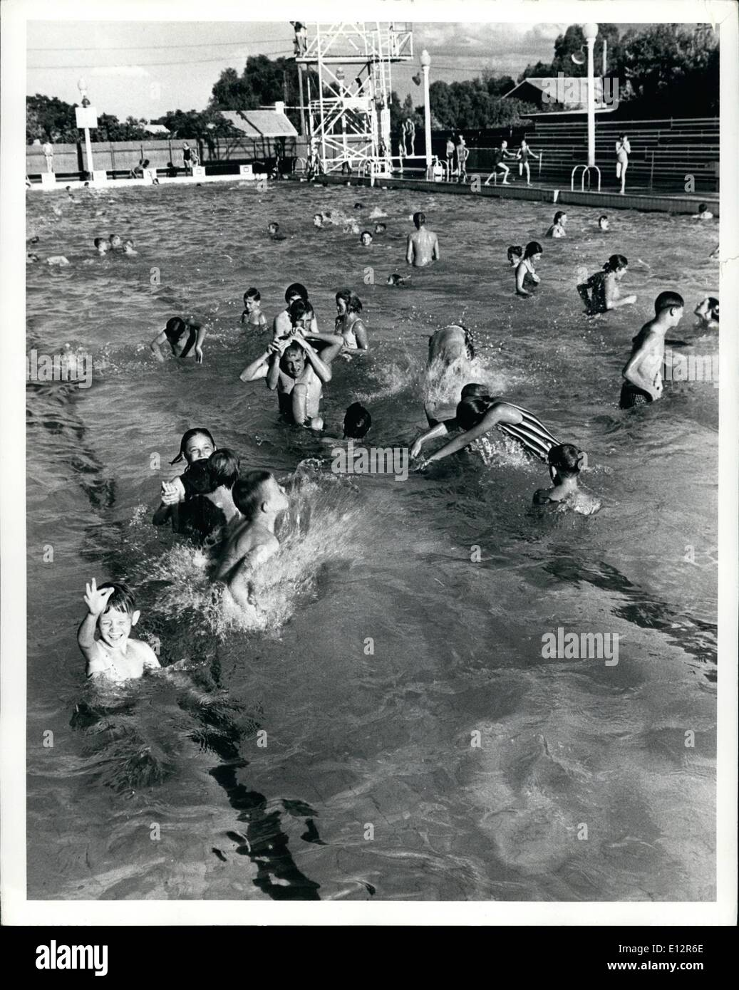 25, 2012   The Olympic Swimming Pool At Parkes NSW , About 300 Miles From  Sydney Where There Is No Water Shortage Because
