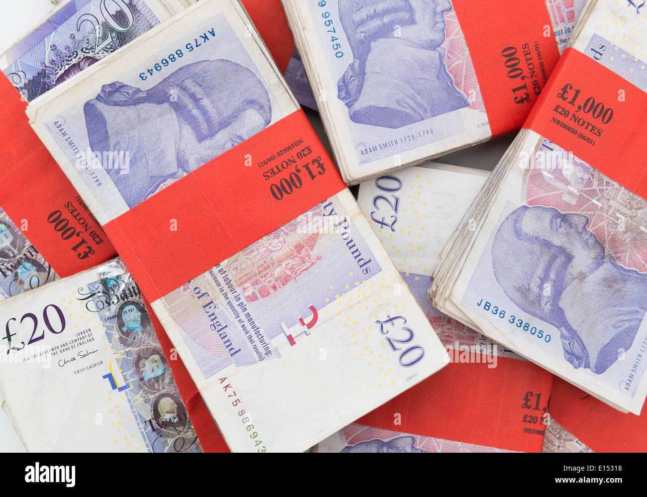 bank notes bundles stock photos bank notes bundles stock images £1000 bundles of british pounds sterling stock image