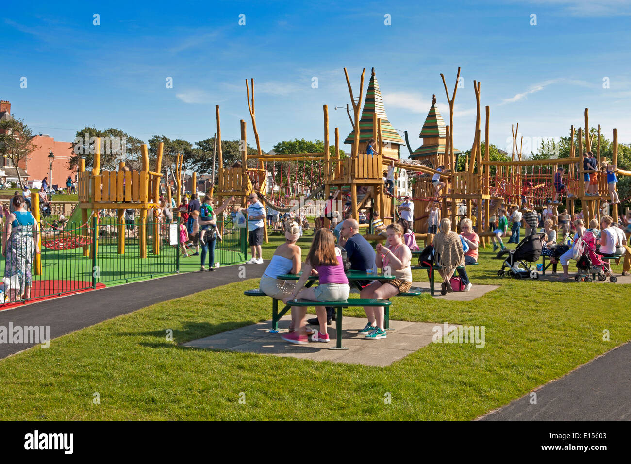 Childrens play area Kings Gardens Marine Lake Southport