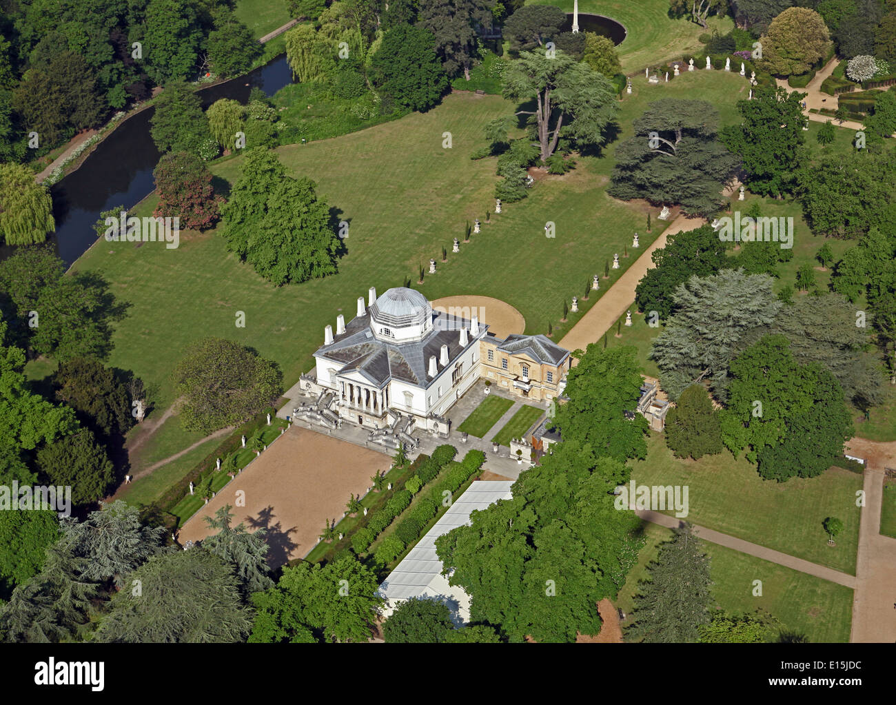 Aerial view of chiswick house a palladian villa in for See images of my house