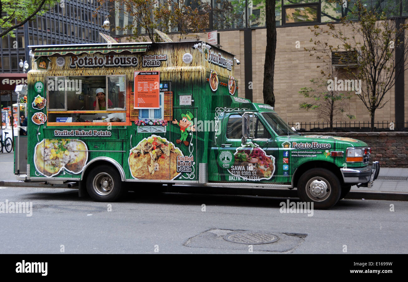 Potato House A Food Truck On The Upper West Side Of Manhattan New York City Parked Just Off Broadway