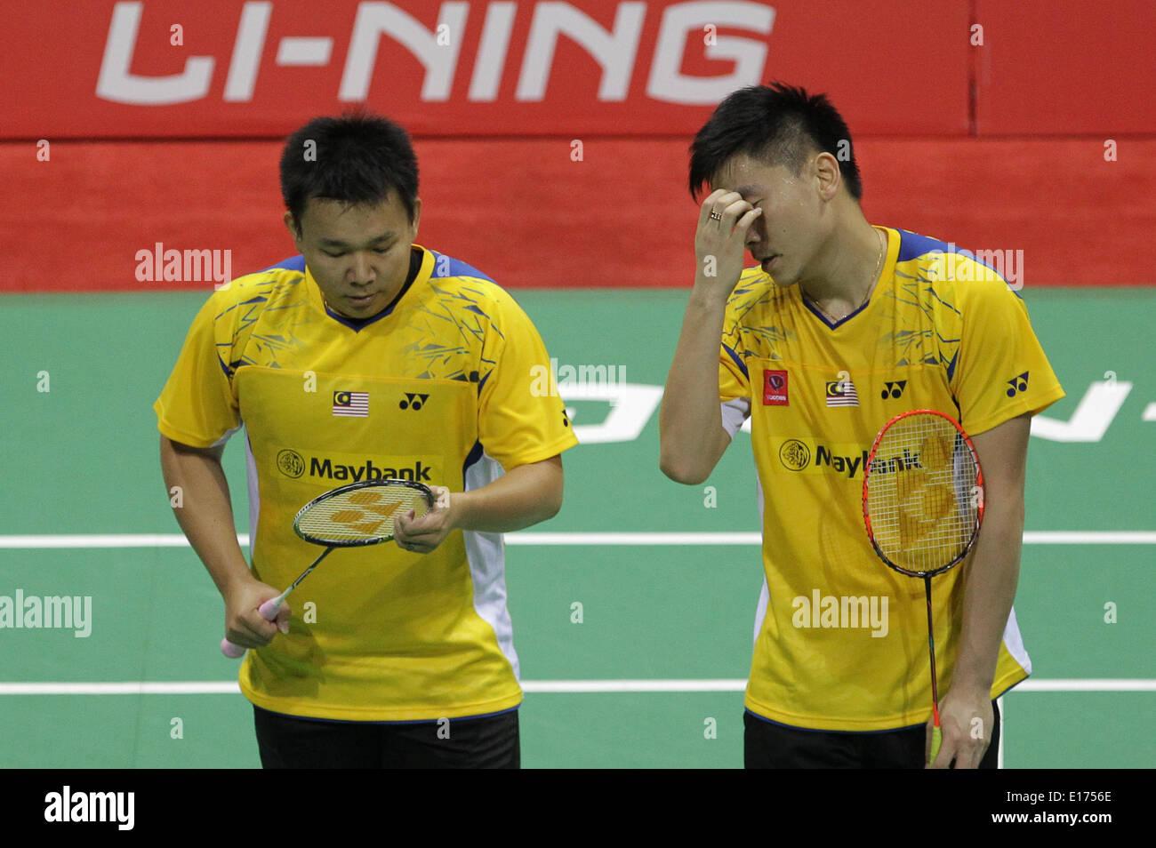 New Delhi India 25th May 2014 Malaysia s Tan Boon Heong R