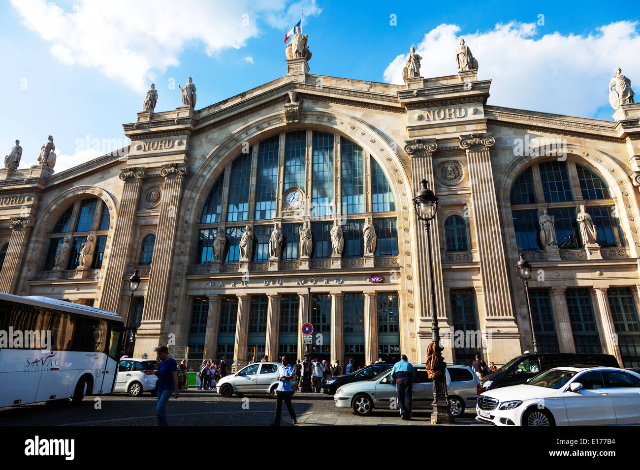 the terminus gare du nord in paris railway station home of the stock photo royalty free image. Black Bedroom Furniture Sets. Home Design Ideas