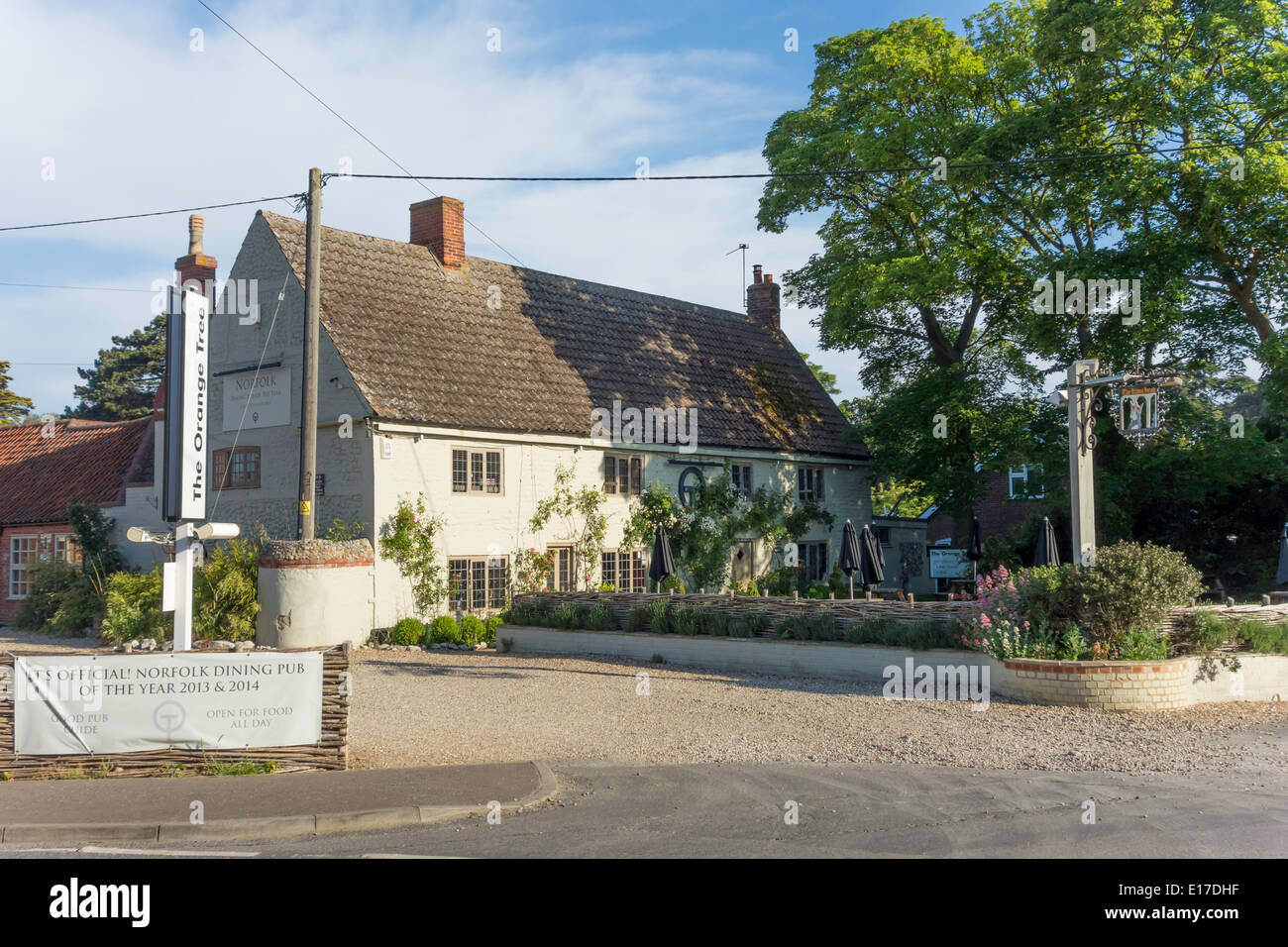 Stock Photo   The Orange Tree Thornham Good Pub Guide Norfolk Dining Pub Of  The Year 2013 And 2014