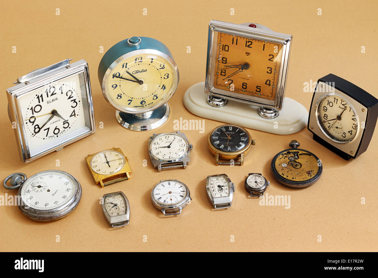 Retro Alarm Clocks And Watches Soviet Alarm Clocks And