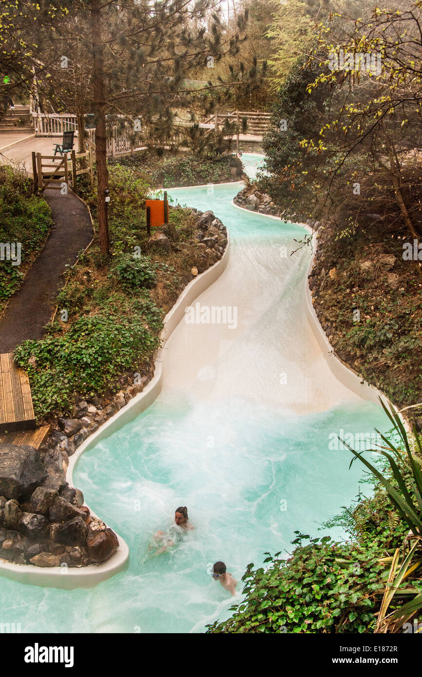 The Outdoor Swimming Pool Rapids Slide At Center Parcs