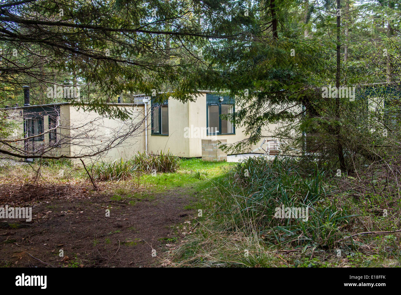 Woodland Lodges At Center Parcs Longleat Forest Wiltshire England Stock Photo Royalty Free