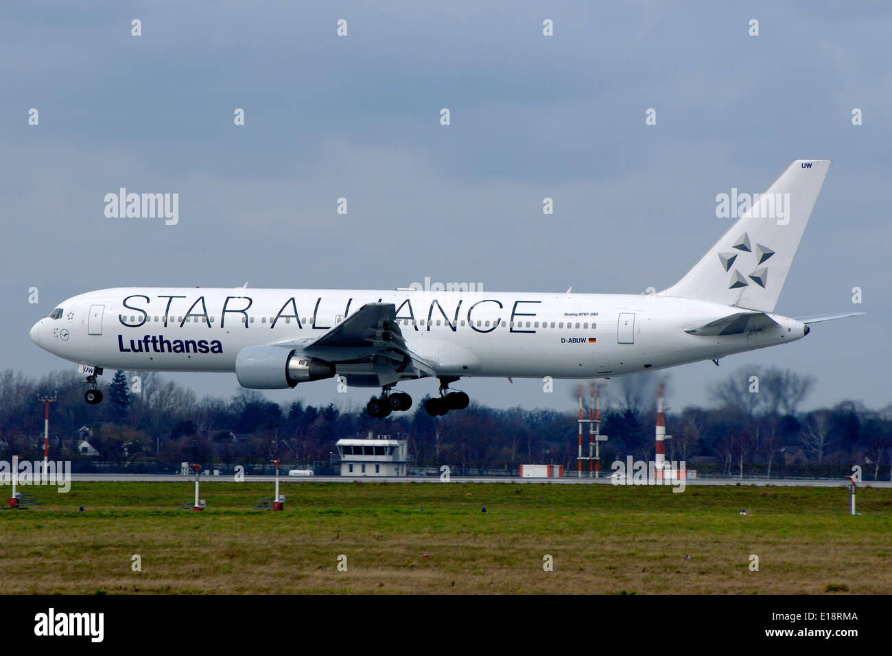 A Boeing 767 300 Passenger Aircraft Of German Airline Lufthansa Is Stock Photo Royalty Free