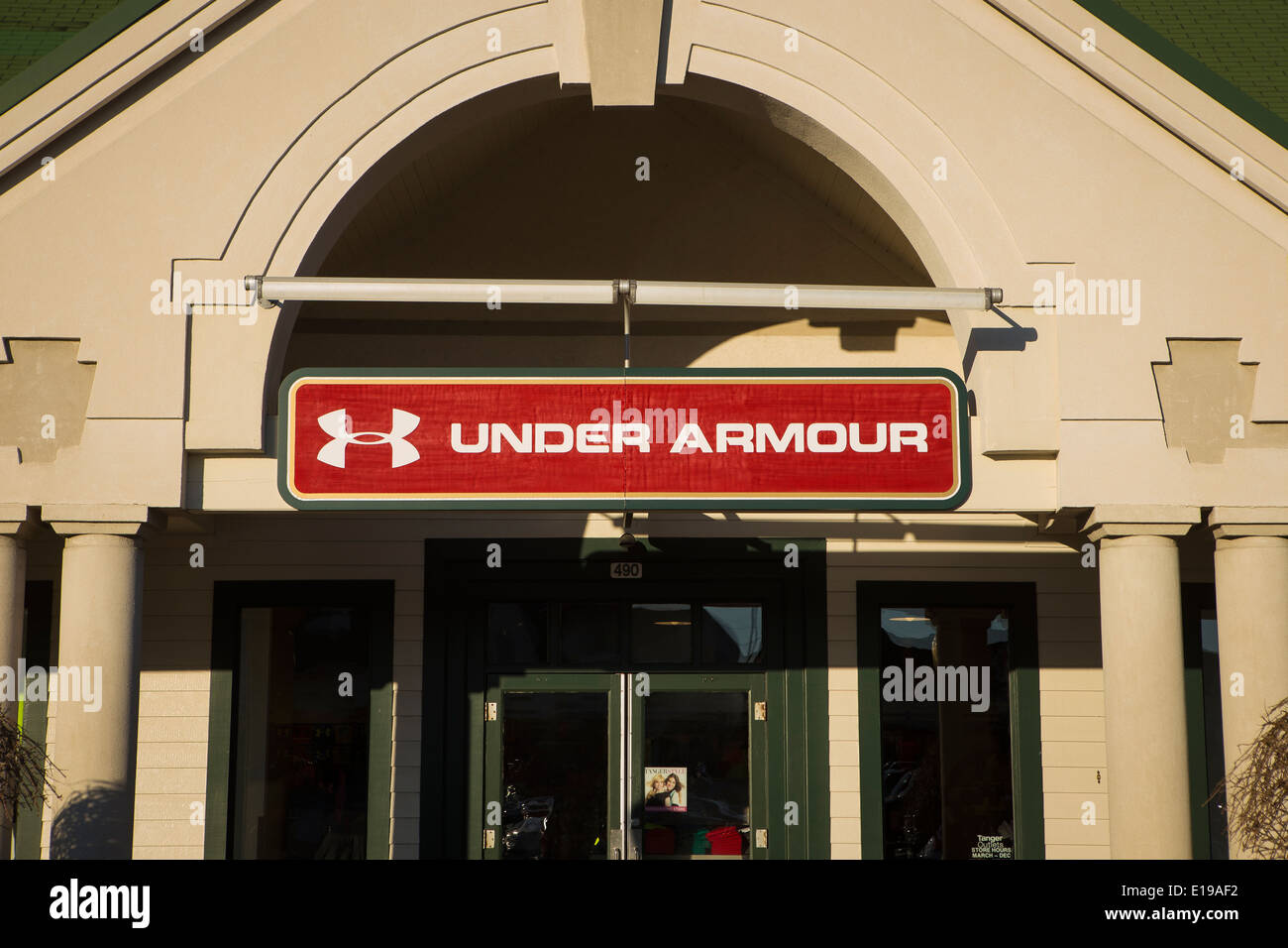 Under Armour Store Is Pictured In Tanger Outlets In Sevierville, Tennessee