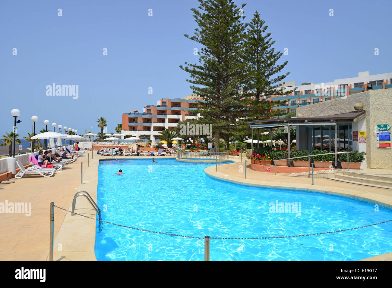 Swimming Pool Dolmen Resort Hotel Saint Paul 39 S Bay San Pawl Stock Photo Royalty Free Image