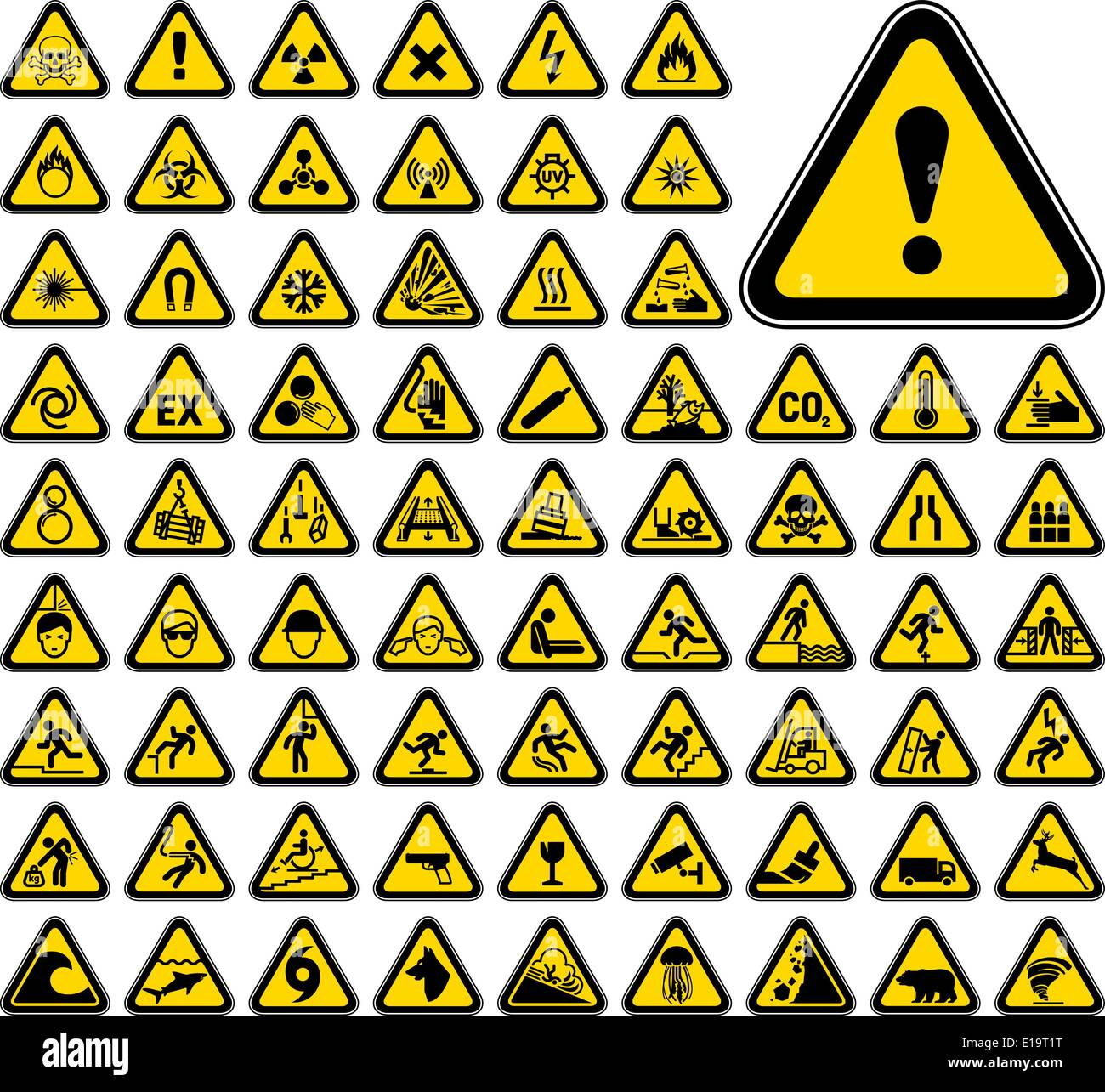 Biological hazard symbols stock photos biological hazard symbols 72 triangular warning hazard symbols stock image biocorpaavc