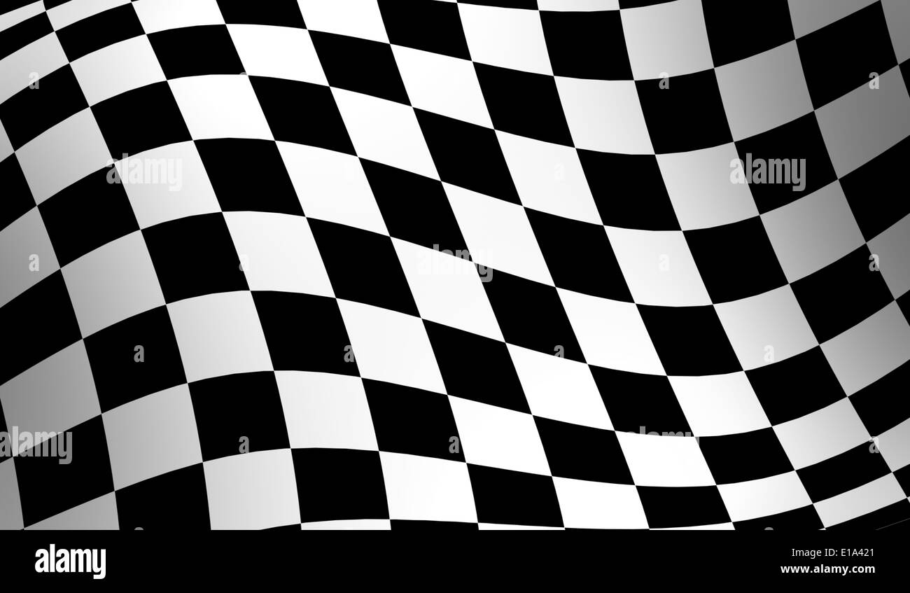 Checkered racing flag wavy checker flag pattern stock image