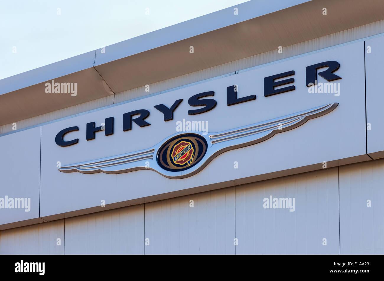 Chrysler automobile dealership sign stock photo 69683547 alamy chrysler automobile dealership sign biocorpaavc Choice Image