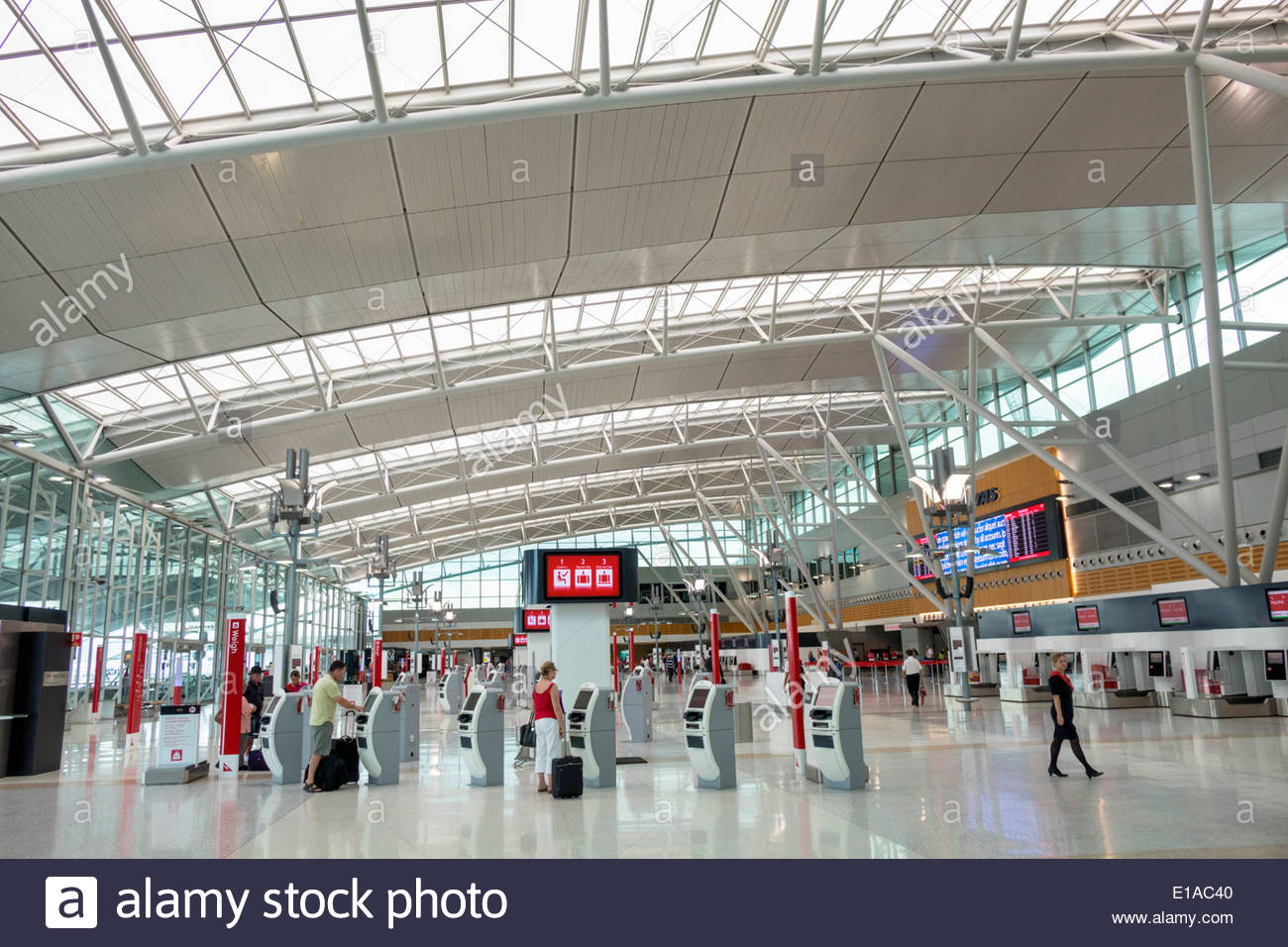 Sydney australia nsw new south wales kingsford smith airport syd terminal concourse inside interior design