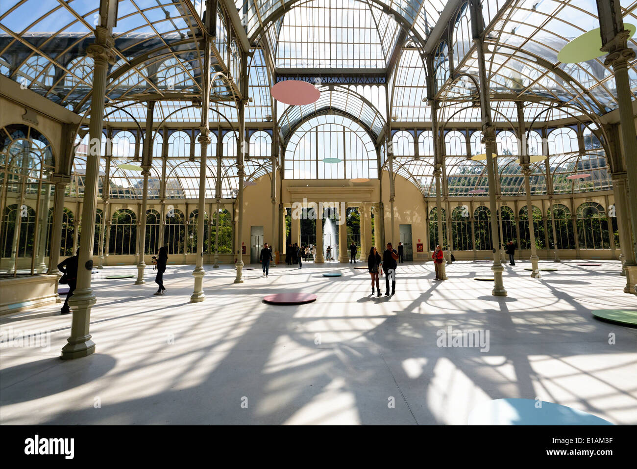 Interior view of glass and metal structure crystal palace buen stock photo royalty free image - Steel framing espana ...