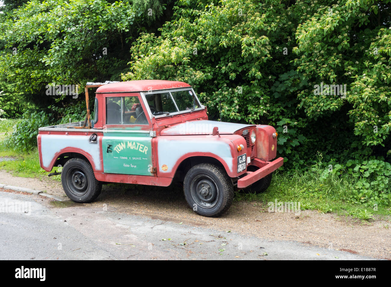 Old Land Rover Pickup Truck Stock Photo 69704091 Alamy