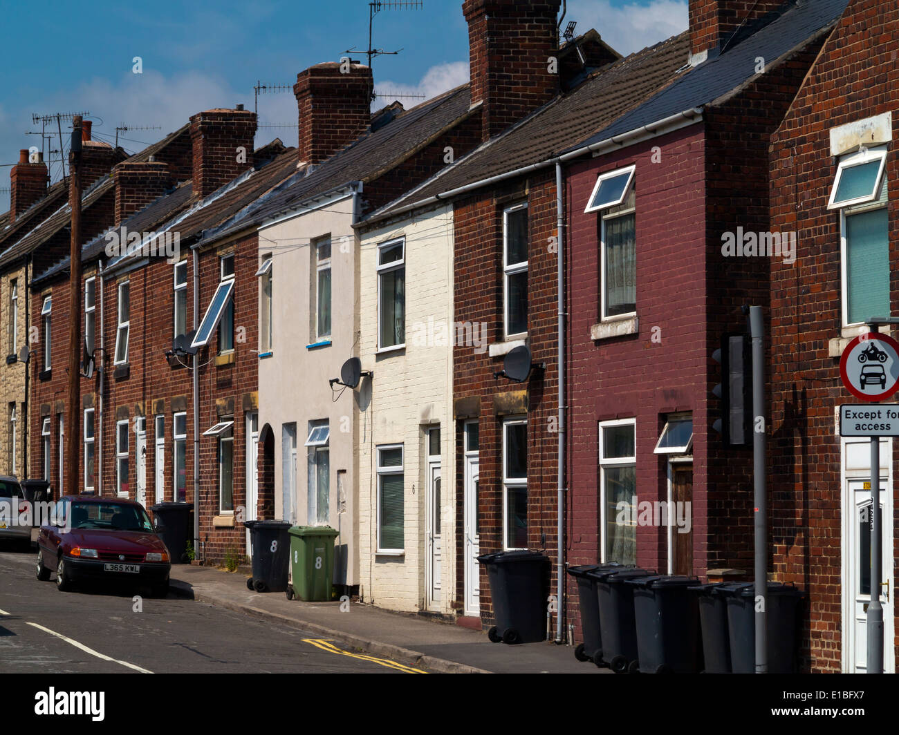 Traditional British Terraced Houses In Chesterfield