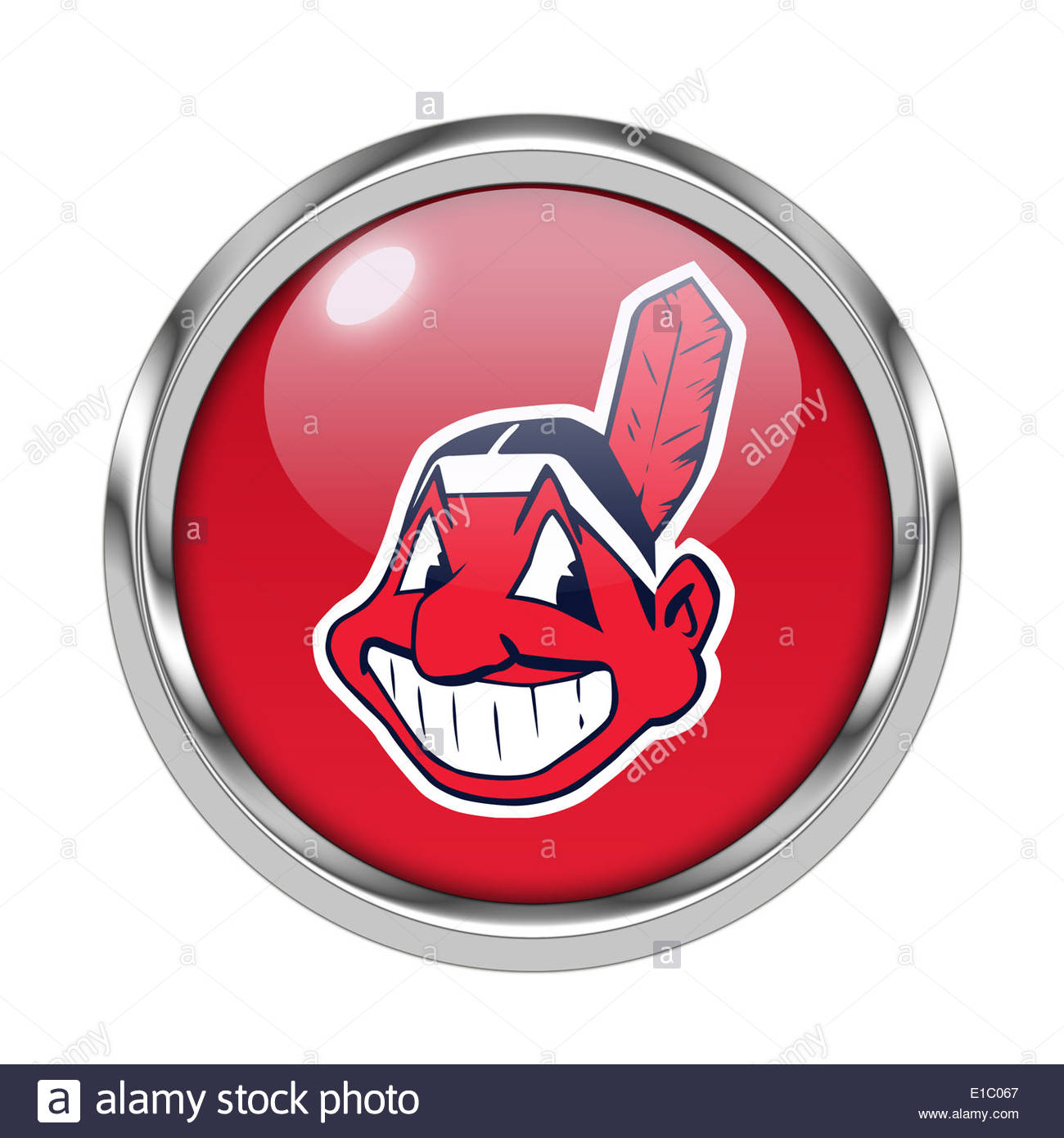 Cleveland indians icon logo isolated app button stock photo cleveland indians icon logo isolated app button biocorpaavc Choice Image