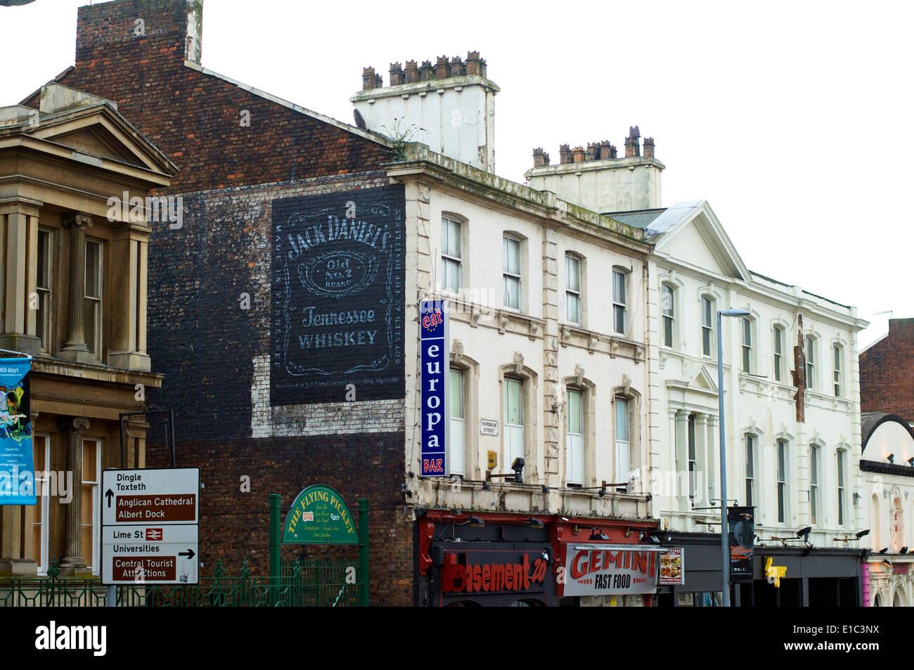 Bars In Old Georgian Houses, Hardman Street,Liverpool,UK