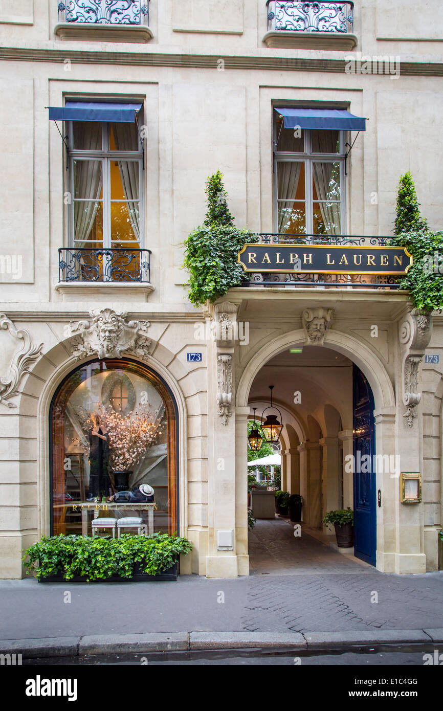 Connu Entry to Ralph Lauren store and restaurant in Saint-Germain-des  EW82